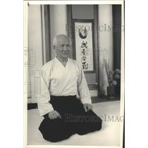 1988 Press Photo Nori Mamura, Holds a Black Belt in Japanese Aikido - mjb26677
