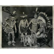 1957 Press Photo Thumping Up a Big Powwow - RRX13877