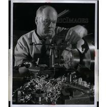 1957 Press Photo Ford Motor Company John Schaefer cars - RRX37733