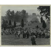 1961 Press Photo The First Battle of Manassas Junction Civil War Reenactment