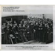 1960 Press Photo Crew Of The Union Civil War Gunboat Carondelet Strikes A Pose