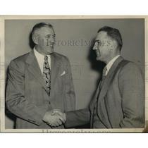1947 Press Photo Alabama- Coaches Rube McCray and John Barnhill at Dixie Bowl.