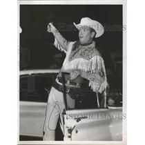1961 Press Photo Rex Allen, Rodeo Star - hca00325