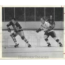1974 Press Photo Houston Areros' Gordie Howe, Hockey - hca01025