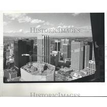 1981 Press Photo Skyline of Calgary Alberta Canada - hca01275