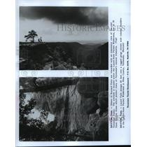 1987 Press Photo Landscape Buzzard Point and Laurel Falls in Dayton, Tennessee