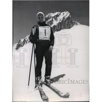 1959 Press Photo Skier Karen B. Vance - sps13985