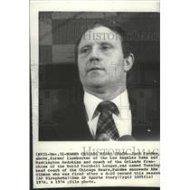 1974 Press Photo New Chicago Bears coach Jack Pardee, a former NFL linebacker