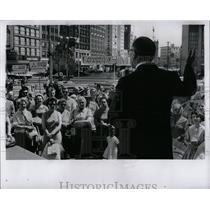 1962 Press Photo J.L.Hudson Old City Hall Mall