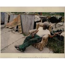 1993 Press Photo Detroit Poverty Prentis Oliver