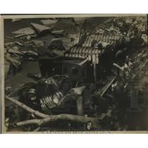 1923 Press Photo Automobile Accident at Chain Bridge Washington, DC - ney29454