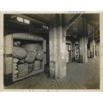 1920 Press Photo Motor Trucks Loaded on the Docks - ney29536