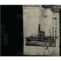 1925 Press Photo Pumping Detroit Dry Dook Company Works - RRW96619