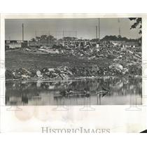 1934 Press Photo Open garbage pit Largo Ridgecrest Park - RRX83935