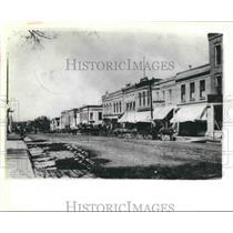 1908 Press Photo Main Street of Dodge County, Now Fox Lake, Wisconsin