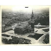 1940 Press Photo City Hall In Calais Which was Reported Bombed by German Planes