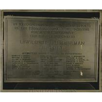 1959 Press Photo Plaque unveiled at Lawrence J. Timmerman field in Milwaukee.