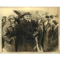 1933 Press Photo Lucien Boussoutrot & Maurice Rossi French aviators - sba03275