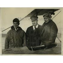 1931 Press Photo Aviators Paul Zimmerman and Ed Moody rescued at Jersey Coast.