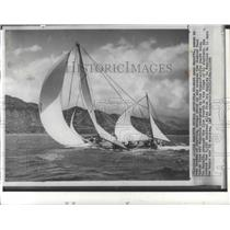 1959 Press Photo Racing Yacht The Maruffa Competing In the Diamond Head Race