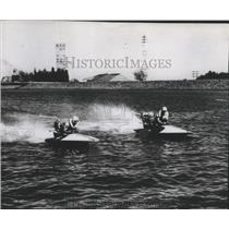 1957 Press Photo Hydroplane boat racing at McNary Dam reservoir - sps19406
