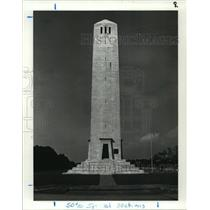 1987 Press Photo Battle of New Orleans Chalmette Monument, Exterior