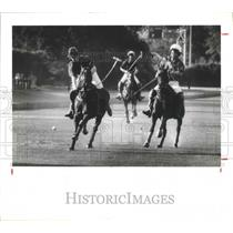 1990 Press Photo Team Houston's Paul Hobby in Polo match - hca01497