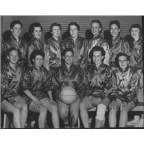 1958 Press Photo The Yellow Cab Women's Basketball Team - sps19361