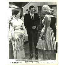 "1963 Press Photo France Nuyen, Samuel Harvey, Group, in ""A Girl Named Tamiko"""