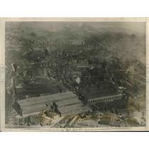 1927 Press Photo Aerial Photo of Krupp Works Plant in Essen, Germany - mjx37243