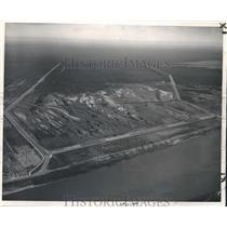 1950 Press Photo New Orleans - Aerial View Bonnet Carre Spillway Gates & Levees