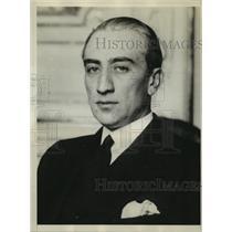 1930 Press Photo Carol A. Davila Roumanian MInister to U.S Escaped with His Life