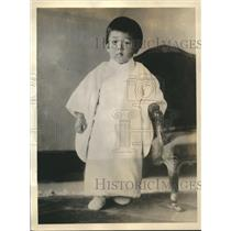 1936 Press Photo Crown Prince Tsugu-no-Miya of Japan, son of Hirohito