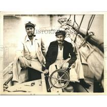 1936 Press Photo Don Meyers and Walter Sparth cruised the West Indies