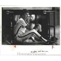 1982 Press Photo Alabama-Birmingham Barons Ken Baker after he hit a home run.