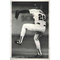 1991 Press Photo Alabama-Birmingham Barons baseball pitcher Jose Ventura.