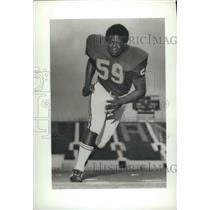 1974 Press Photo University Of Alabama Football Offensive Center Sylvester Croom