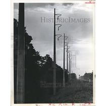 1968 Press Photo Houston Lighting and Power Company Electrical Towers