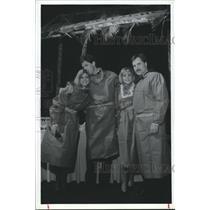 1988 Press Photo members of the American Red Cross, Houston in scrubs