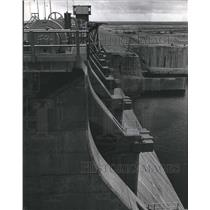 1969 Press Photo View of the Amistad Dam, Texas 254 feet above the river