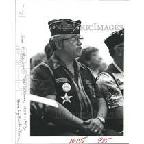 1983 Press Photo Jose A. Hinojosa, POW of the Korean conflict, at ceremony