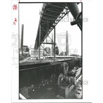 1982 Press Photo Coal Cars, Houston Lighting & Power Co. - W.A. Parish Plant