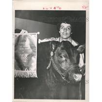 1961 Press Photo Patricia McLaren, Houston Fat Stock Show & Rodeo - hca03190