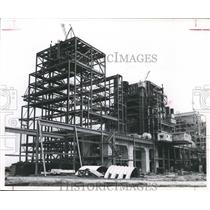 1955 Press Photo Construction of Houston Lighting & Power Co. Sam Bertron Plant