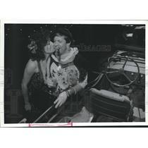 1988 Press Photo Randy Francis & Maria Attilio, American Red Cross, Houston