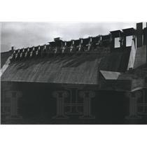 1970 Press Photo spillway of the Amistad Dam, Texas, view toward Mexico