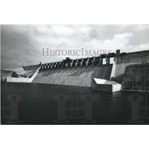 1970 Press Photo View of the Amistad Dam, Texas - hca03793
