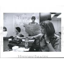 1992 Press Photo Command Central for the Pro-Choice Coalition, Abortion, Houston