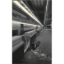 1985 Press Photo Work Being Done on Mitchell Field Airport's Expanded Terminal