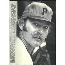 1974 Press Photo Pittsburgh Pirates Pitcher Jim Rooker Wants To Be Traded